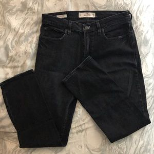Men's Hollister Slim Straight Jean—Black Wash